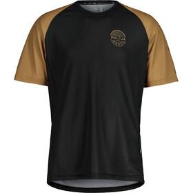 Maloja StachelbeereM. Multi Short Sleeve Multisport Jersey Men, negro/beige